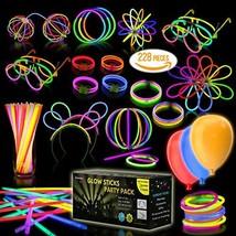 Eurostar Ventures Multicolor Glow Sticks Bulk Party Pack Non Toxic 228 Pieces Li