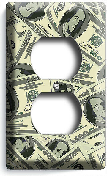 LUCKY DOLLARS MONEY ATTRACTION PATTERN FENG SHUI OUTLET WALL PLATE ROOM HD DECOR