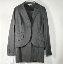 CAbi Suit Size 4 616 Jacket & 550 Pencil Skirt Heather Gray Stretch Rayo... - $29.99
