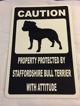 "12"" x 18"" Staffordshire Bull Terrier With Attit... - $20.00"