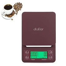 Ataller Digital Coffee Scale with Timer and Tare Function 1g, Multifunct... - $23.15