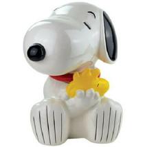 Peanuts Snoopy Hugging Woodstock Figures Ceramic Cookie Jar 2012 NEW UNUSED - $96.74