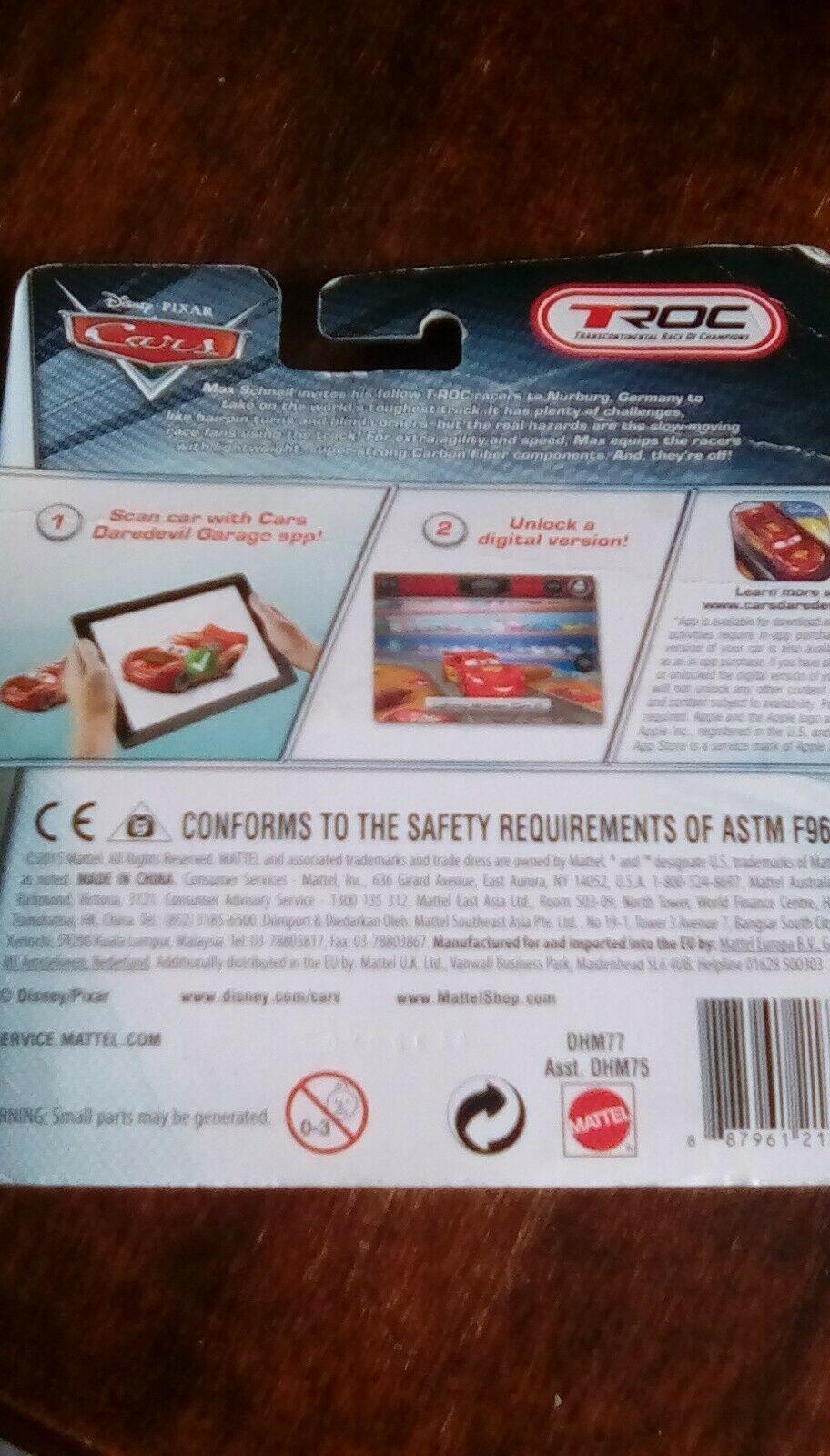 2015 disney/pixar MAC SCHNELL CAR cars mint condition