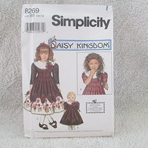 "Simplicity Pattern # 8269 Size BB,5,6,7,8--CHILDS Dress And Doll Dress For 18"" D - $12.86"