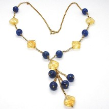 Silver 925 Necklace, Yellow, Citrine, Kyanite, Pendant Cluster image 1