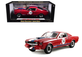 1/18 Shelby Collectibles 1966 Ford Shelby Mustang Red GT350R Model Car S... - $79.95