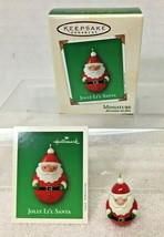 2003 Jolly Lil Santa Mini Hallmark Christmas Tree Ornament MIB w Price Tag  - $9.41