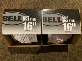 """2 White Bell Kids Bike Tires 16"""" X 2.125 inch Replaces 1.75-2.125"""" tire (1 Pair) - $39.59"""