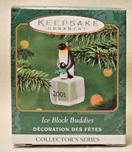 2001 HALLMARK HANDCRAFTED KEEPSAKE MINIATURE ICE BLOCK BUDDIES ORNAMENT ... - $17.66
