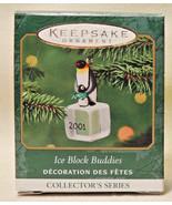 2001 HALLMARK HANDCRAFTED KEEPSAKE MINIATURE ICE BLOCK BUDDIES ORNAMENT ... - $17.66