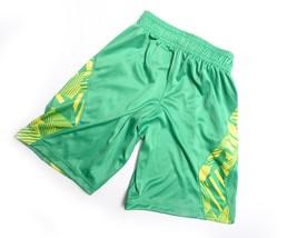 Under Armour Shorts Boys Size Yxs Loose Fit Heatgear Green Yellow New - $24.98