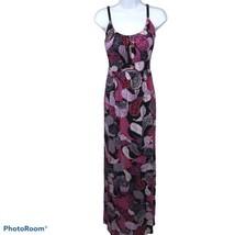 ALLISON BRITTNEY Blue Green Black Sleeveless Empire Long Maxi Dress L  - $13.17