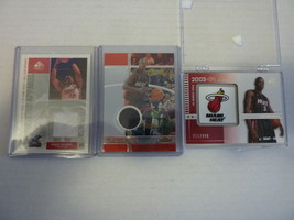 Lot of 3 Dwyane Wade - 2004 SP Signature Edition Rookie RC 215/499 Miami... - $39.55