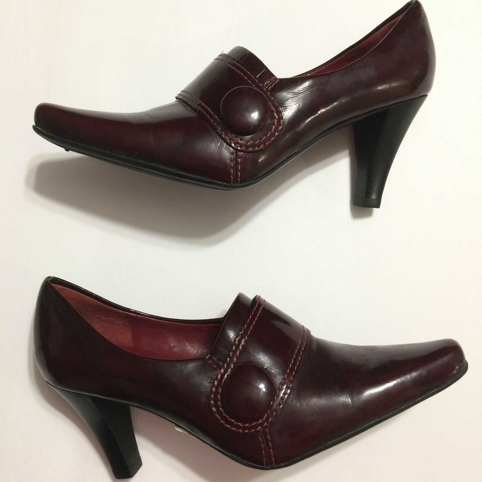 Primary image for Franco Sarto Heels Pumps Shoes Size 7 Burgundy Maroon Flavia New Without Box