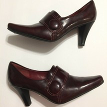 Franco Sarto Heels Pumps Shoes Size 7 Burgundy Maroon Flavia New Without... - $24.05