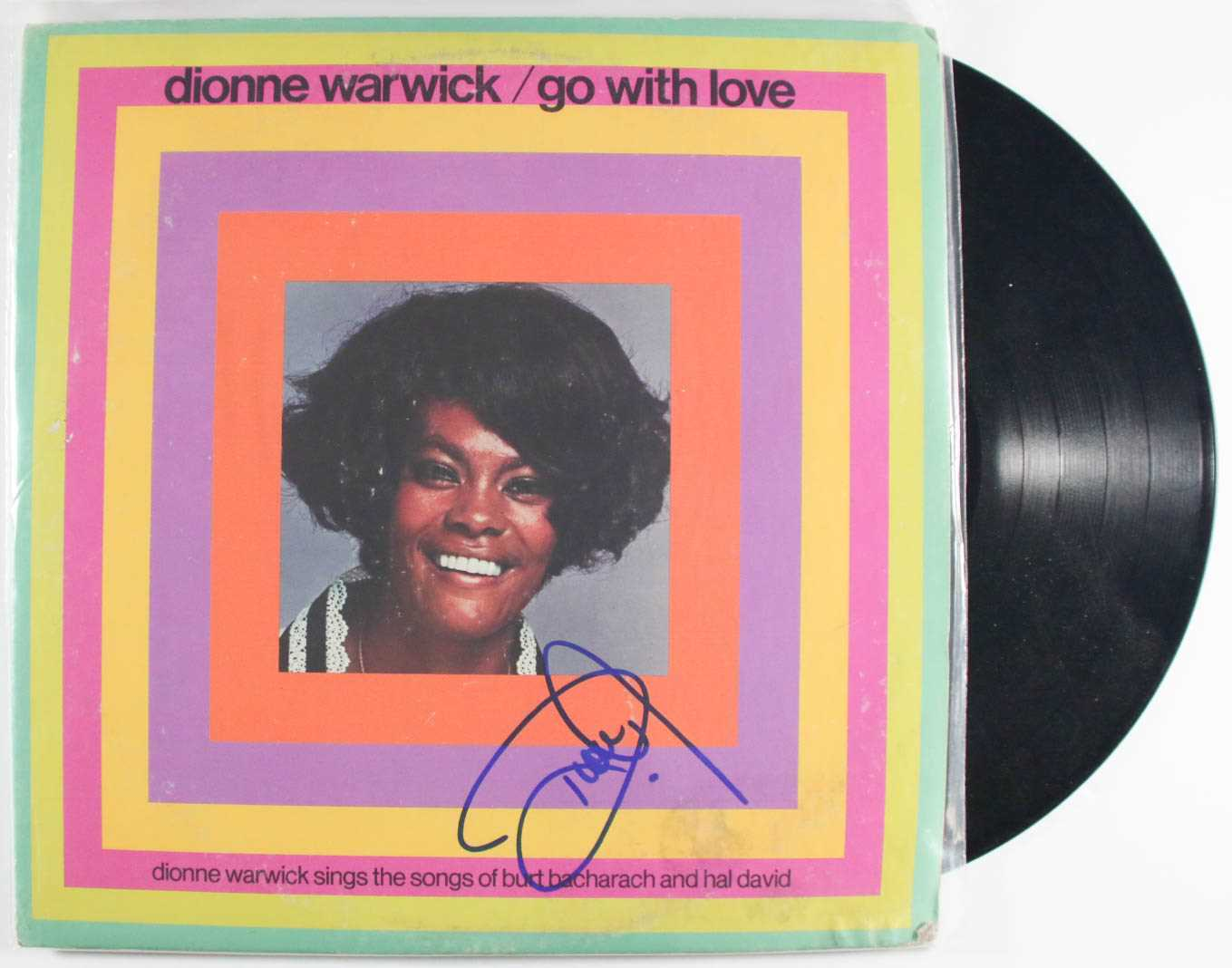 "Primary image for Dionne Warwick Signed Autographed ""Go With Love"" Record Album"