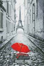 Eiffel Tower, Paris Minimalist Cross Stitch Design -Instant Digital Down... - $5.99
