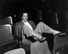 Jane Russell Legs Up On Chairs Gazing Forward In Theater 16X20 Canvas Giclee - $69.99