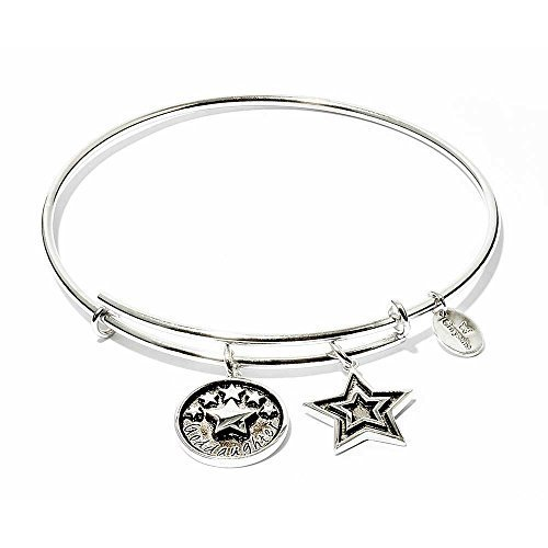 Chrysalis Goddaughter Expandable Bangle, Rhodium-Plated