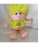 Soft Sculpture Lucky Troll Doll Yellow Hair & T-Shirt by Classic Toys 11... - $14.84