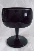 10 Gorham Crystal Vintage Glass Black Glasses CHAMPAIGNE/TALL Sherbet #166664 - $49.45