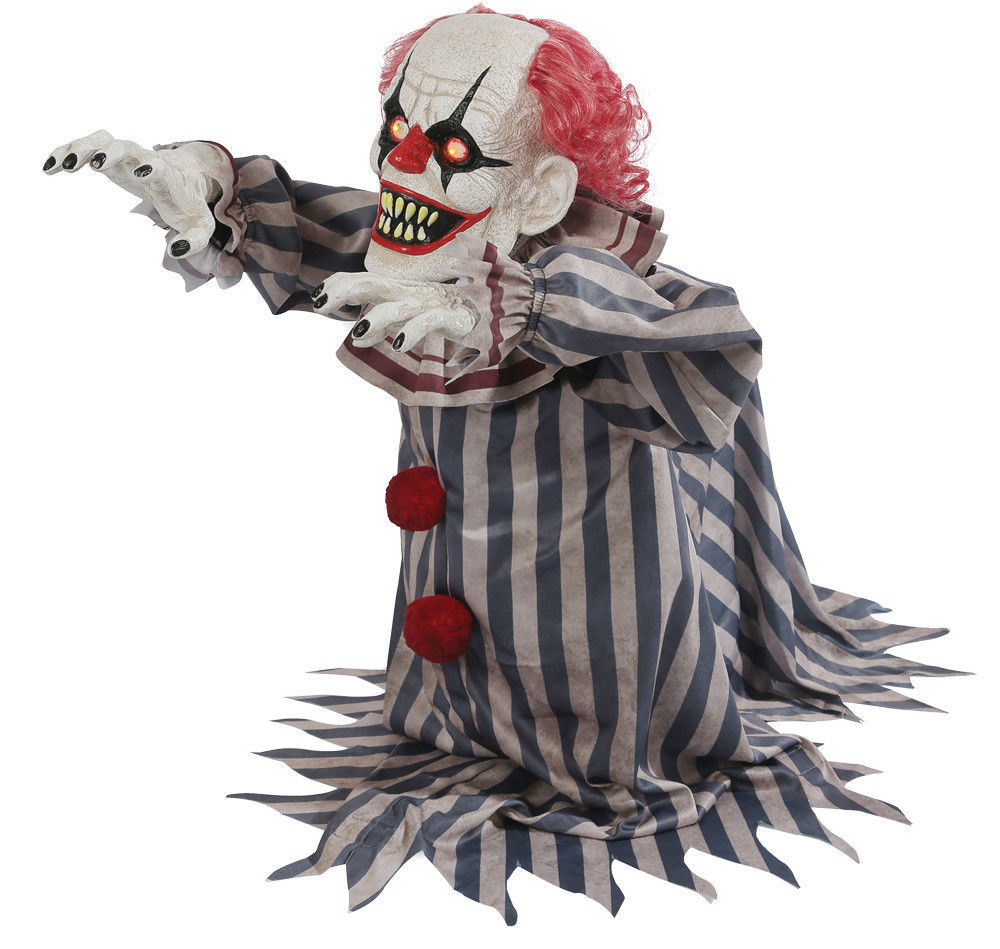Halloween Animated SCARY JUMPING CREEPY CLOWN Prop Haunted House NEW