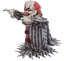 Halloween Animated SCARY JUMPING CREEPY CLOWN Prop Haunted House NEW  - $138.97