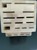 Zwilling J.A. Henckels 22-slot Bamboo Knife Storage Block New Without Box - $39.59