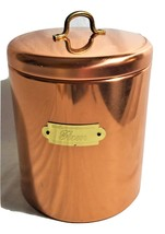 Bristol Ware Vintage Copper Plated Flour Canister--USA - $19.00