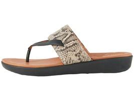 FitFlop Delta Toe Thong Taupe Snake/ Black Women's Sandal K33-586 - $115.95