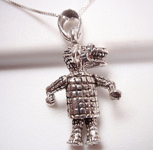 Personified Alligator Pendant 925 Sterling Silv... - $12.86