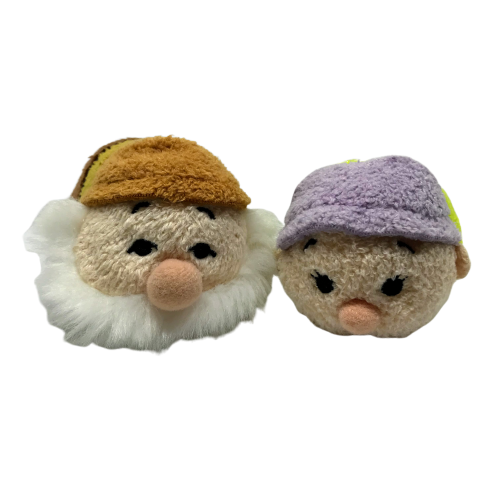 Primary image for Disney Snow White Dopey Sneezy Tsum Tsum Set Seven Dwarfs Mini Plush Stuffed Toy