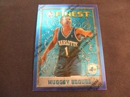 1995-96 Topps Finest w/peel #82 Muggsy Bogues-Charlotte Hornets- - $3.12