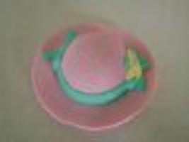 Fisher Price Loving Family Dollhouse Grandma Grandmother Pink Sun Hat - $1.97