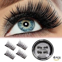 LEDitBe Magnetic False Eyelashes, 3D Black Dual Magnetic, Ultra Thick Ultra Solf - $29.45