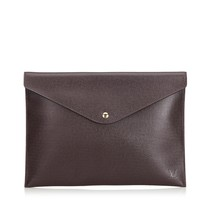 Vintage Louis Vuitton Red Taiga Document Case Clutch Bag France - $447.87