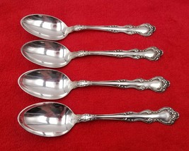 "4 Oval Place Soup Spoons ~ Orient / Venice by Holmes & Edwards Silverplate 7"" - $38.61"
