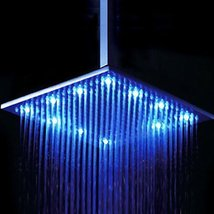 16 x 31 inch Stainless Steel Shower Head with Color Changing LED Light - $683.05