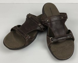Merrell Womens Size 10 Glade Brown Leather Slip Ons Sandals - $23.99
