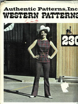 Misses Yoke Pants and Vest Authentic Patterns # 230 Size 6 Uncut New Old... - $6.93