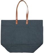 DARK GRAY REUSABLE JUTE FOLDABLE SHOPPING GROCERY BAG TOTE WITH HANDLES - $42.14