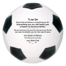 Custom Mini Soccer Ball To Our Son Graduation, Wedding, Birthday, Christ... - $34.95