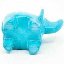 Vaneal Group Hand Crafted Carved Soapstone Sky Blue Elephant Figurine Made Kenya image 5