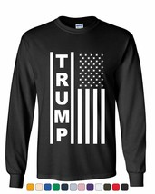 Trump Flag MAGA Republican Long Sleeve Tee President USA Political - $10.18+