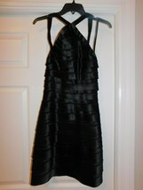 Bcbg Maxazria Satin Halter Tiered Dress Size 0 - $39.60