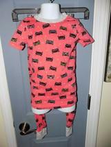 Kirkland Signature Pink Cat 2 PC Pajama Set Size 6 Girl's EUC - $19.58