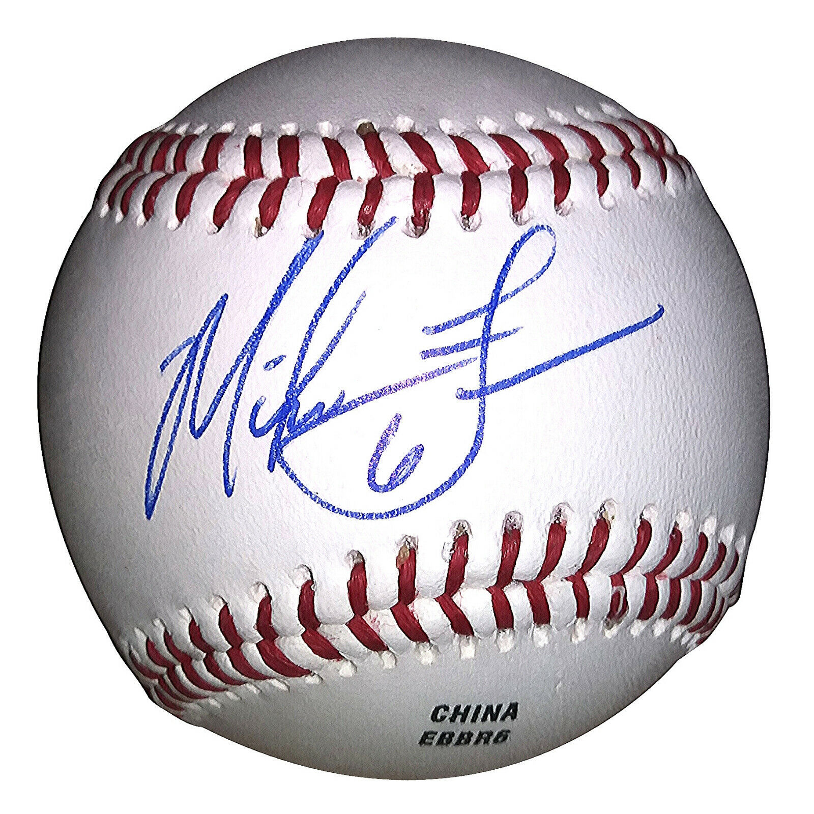 freeman mike indians baseball dodgers cubs autographed cleveland proof signed seller