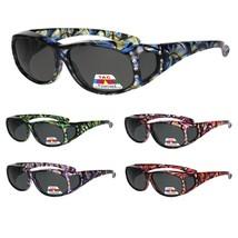 Polarized Rhinestone Geometric 55mm Translucent Plastic Fit Over Sunglasses - $18.68 CAD