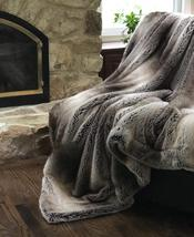 Luxury Velvet Afghan Chinchilla Throw Blanket - $350.00