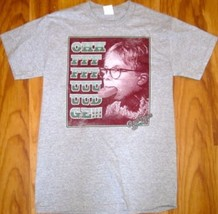 "New A Christmas Story ""Oh Fudge"" Tee T Shirt Grey Small Sm S Preshrunk Cotton - £12.90 GBP"